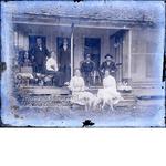 Group portrait on porch