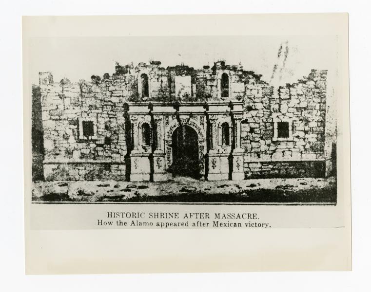 [Alamo Chapel in 1836]
