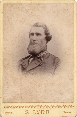 Sam Bell Maxey wearing Confederate uniform