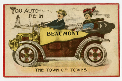 Beaumont: The Town of Towns postcard