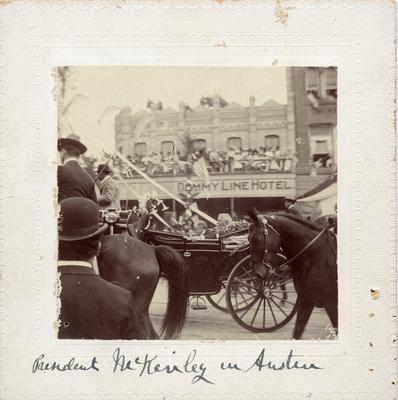 President McKinley in Austin, about 1901
