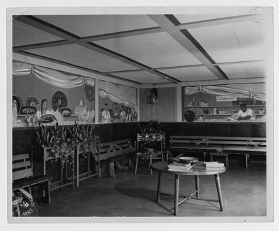Smoking room of Theater 1, taken by the U.S. Army Signal Corps