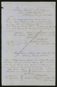 Sample page from a Confederate military roll