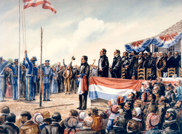 The Annexation of Texas to the Union, painting by Donald M. Yena