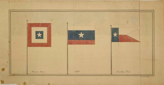 Maritime Auxiliary Flags from the Republic of Texas era
