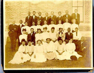 Class photo of the Junior Class at the Texas Normal School for Negroes