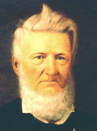 Portrait of David G. Burnet, president of the Republic of Texas