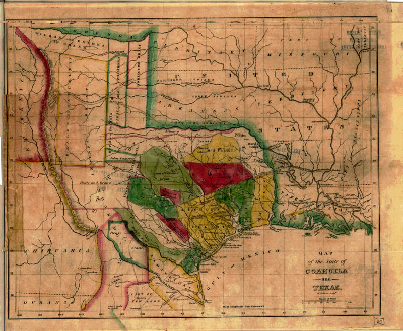 Map of the State of Coahuila and Texas, 1836