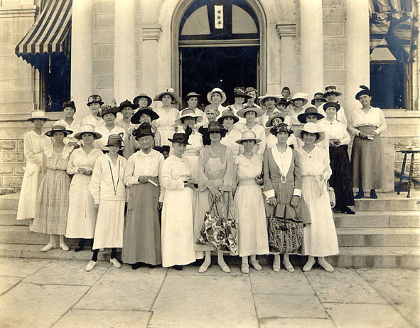 Photo of Travis County Women registering to vote, 1918