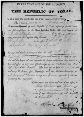 Appointments and applications, September 13, 1841