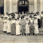 An early group of women registrants