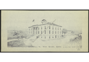 1853 Limestone Capitol front elevation