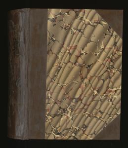 Jacob deCordova letterbook front cover