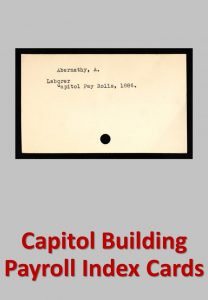 Capitol Building Payroll Index Cards