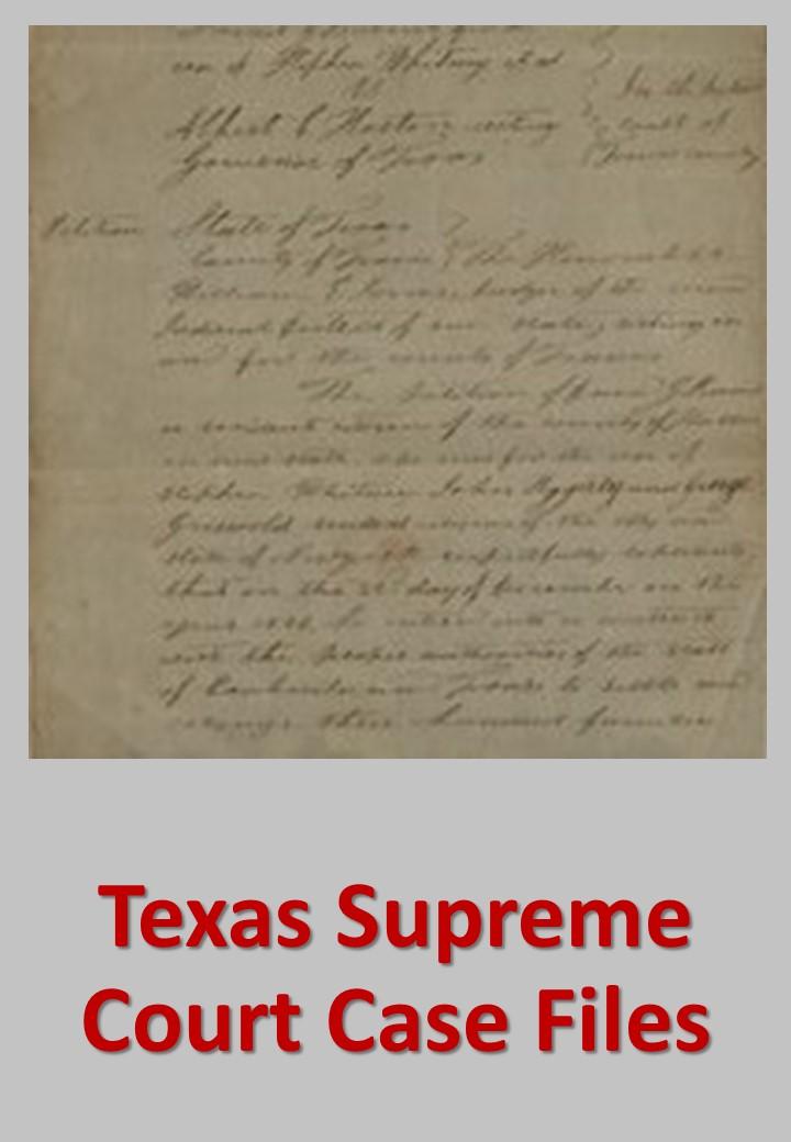 Texas Supreme Court Case Files Custom Search
