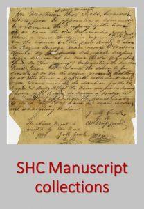Sam Houston Center Manuscript collections