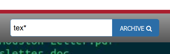 search bar with the word tex*