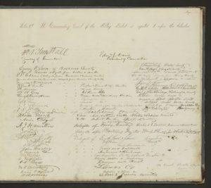 Signature page of 1868 Constitution