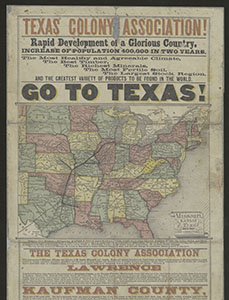 Texas State Archives Broadsides and printed ephemera collection