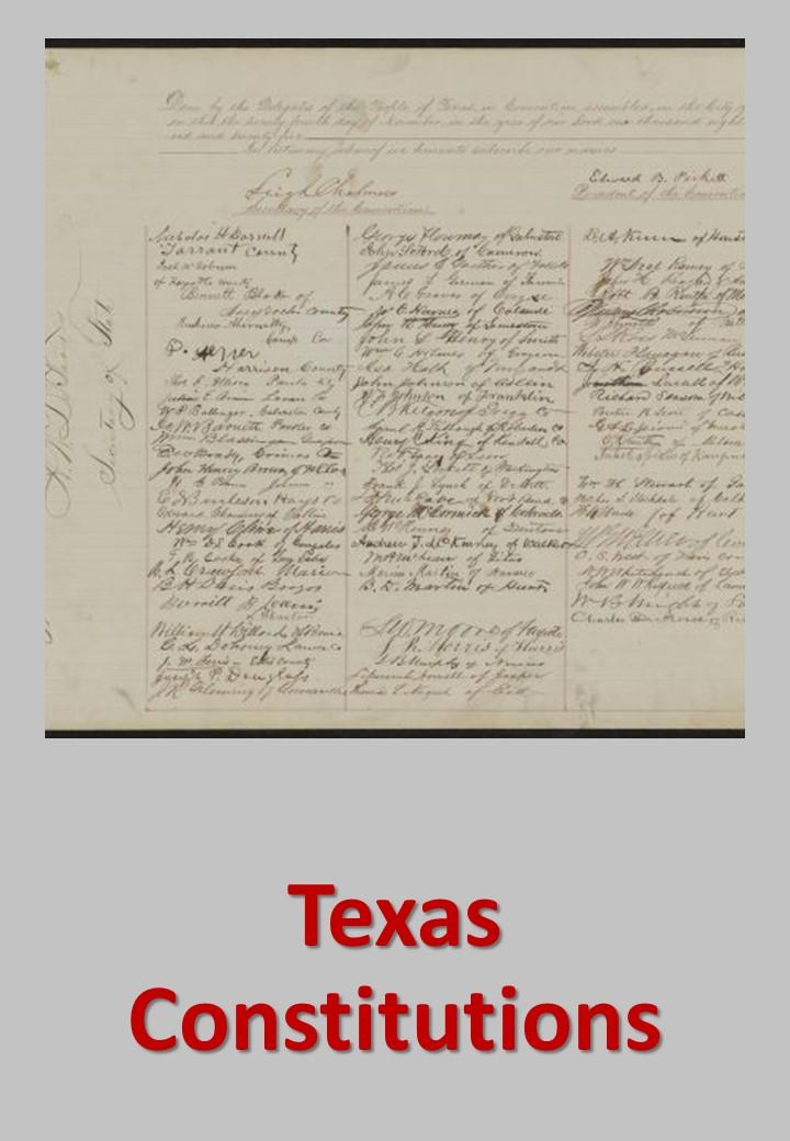Texas Constitutions