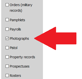 """arrow pointing to """"Photograph"""" in Type menu"""