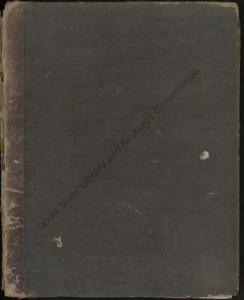 Cover, letterpress volume